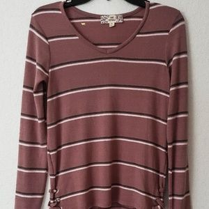 Tops - $36 NEW WITH TAG WOMEN TAP SIZE XS MAUVE COMBO